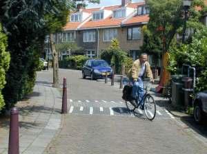 Bike narrow brick street