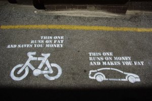 bikes save cars fatten
