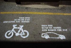 bikes save cars fatten