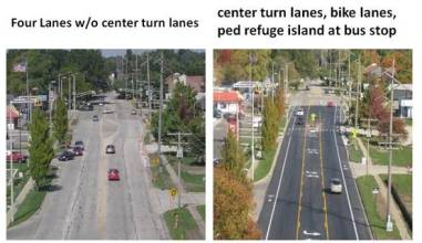road diet before and after