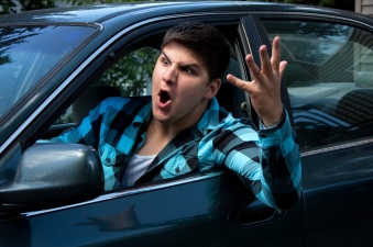 Man Expressing Road Rage