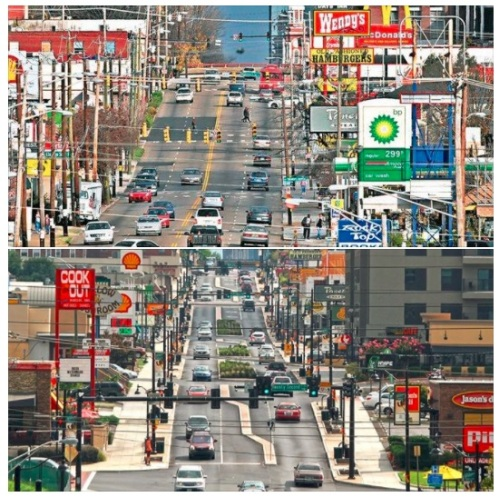 Knoxville TN road diet