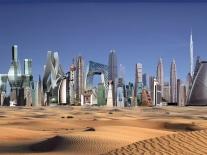 Crazy-buildings modernist skyline
