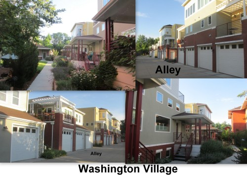 Washington Village collage
